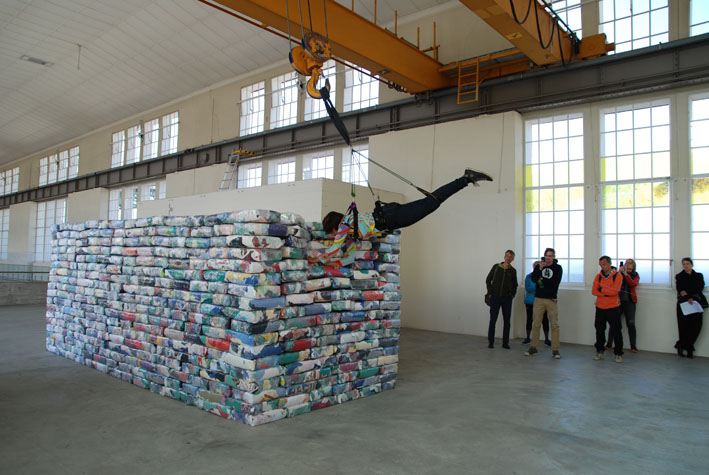Grenzgang Performance Maag: Foto Simone Fuchs ©Fuchs/Maag